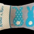 Namenskissen mit Hasen für Tierliebhaber oder als Geschenk zu Ostern
