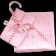 Zweiteilige Bettwäsche in rosa Vichykaro für Babys