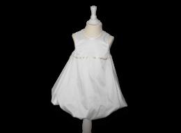 Weiß-graues Ballonkleid mit Herzchen Verzierung