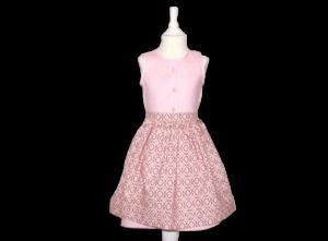 Kinderdirndl in rosa mit Schürze im Retrolook