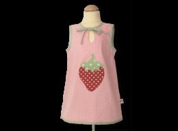 Schicke Tunika mit Erdbeere in rosa mit Vichykaro-Details