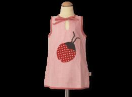Schicke Tunika mit Marienkäfer für Mädchen mit Vichykaro-Details
