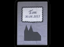 Personalisierbarer U-Heft Umschlag mit applizierten Kölner Dom