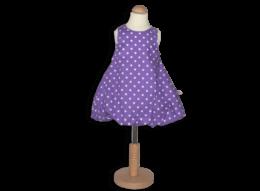 Süßes Ballonkleid mit Punkten für Mädchen in verschiedenen Größen und Farben