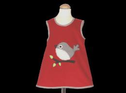 Schickes Schürzenkleid mit Vogel und Vichykaro-Details