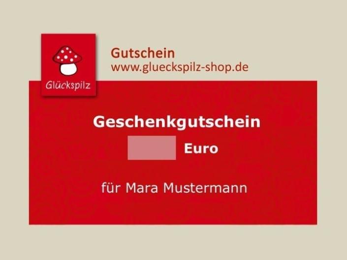 Glückspilz-Shop Gutschein von 25 € - 100 €