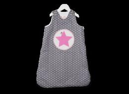 Wohliger Schlafsack für Mädchen mit Stern Motiv