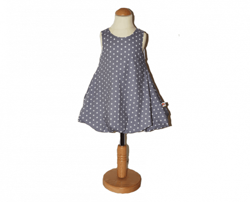 Süßes Ballonkleid mit Sternen - Muster für Mädchen in verschiedenen Größen und Farben