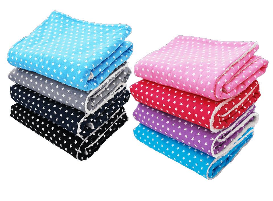 Wohlig plüschige Kinderdecken in vielen Farben