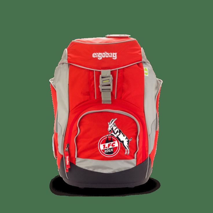 Der stylische Ergobag in rot, beige und grau mit dem Logo des 1. FC Köln