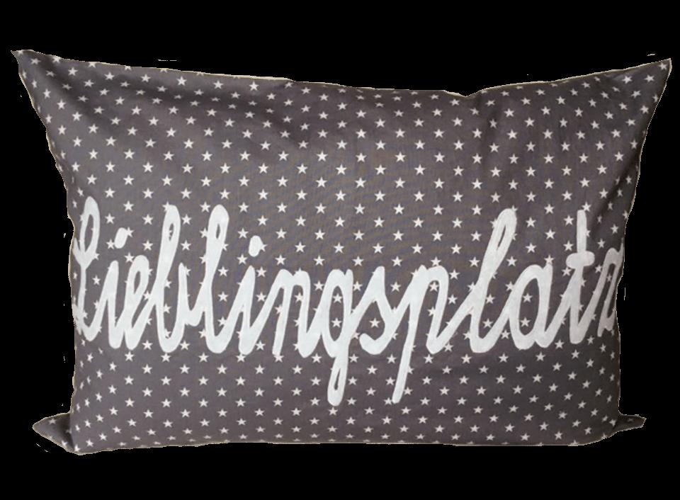 Markieren Sie Ihren Lieblingsplatz mit diesem wunderbaren Kissen.
