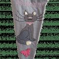 Schultüte Katze rosa grau mit appliziertem Motiv und gesticktem Namen in Detailaufnahme