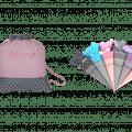 """Ab jetzt gibt es den rosa/grauen Turnbeutel """"Sterne"""" und die passende Schultüte """"Sterne"""" im Set."""