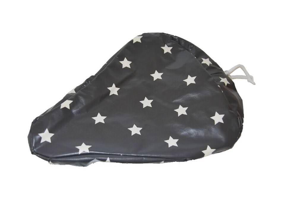 Sattelbezug mit Sternen grau