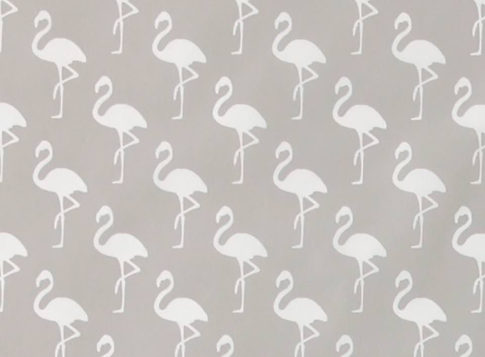 Stoff mit Flamingos