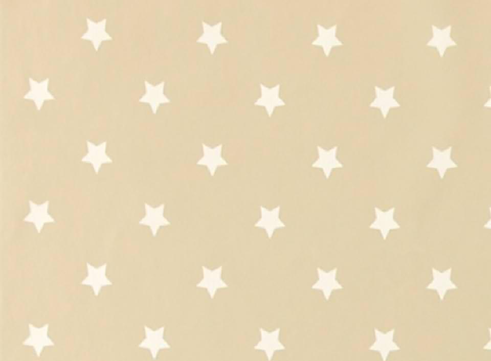 Sterne Stoff auf beige