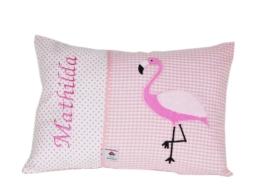 Namenskissen Flamingo