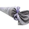 Schultüte Fee appliziert und gesticktem Namen lila und grau