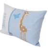 Namenskissen hellblau mir Giraffe seitlich