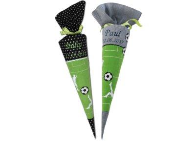 Fußball Schultüte aus Stoff in zwei Farbvariationen