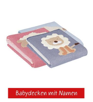 Babydecken mit Namen von Glückspilz