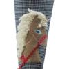 Schultüte Einhorn mit Nahaufnahme des applizierten Einhorns
