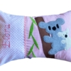 Namenskissen mit Koala auf rosa Karo