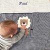 Baby Kuscheldecke mit Löwe für Babys