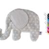 Klicken Sie hier um Sich unser Waermekissen Elefant in beigem Sternenstoff anzusehen