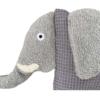 Schauen Sie Sich hier den Kopf unseres Kuscheltier Kissens Elefant im Detail an.